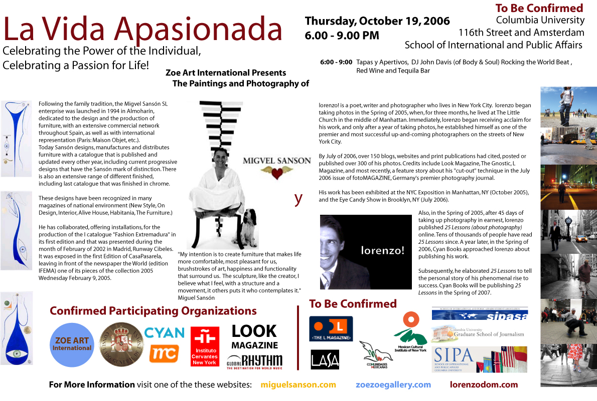 La Vida Apasionada: Celebrating the Power of the Individual, Celebrating a Passion for Life